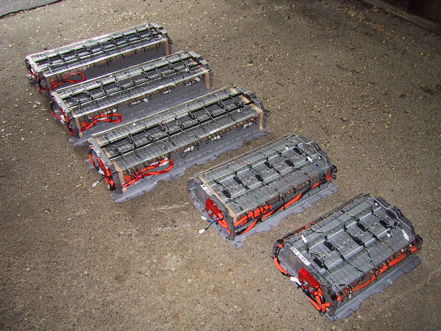 Picture of five battery assemblies.